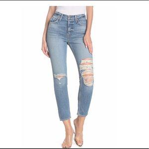 GRLFRND Karolina High Waist Distressed Skinny Jean